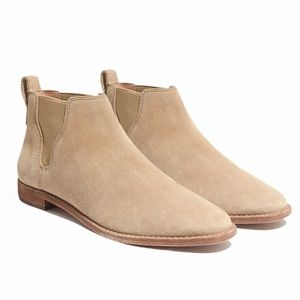 Madewell Tan Cliff Suede Bryce Chelsea Boots 9